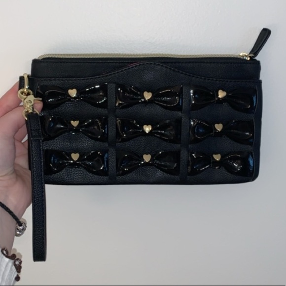 Betsey Johnson Leather Clutch/Wristlet